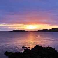 Sunset over Ross Island, Kirkcudbright
