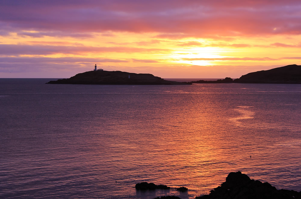 Sunset over Ross Island, Kirkcudbright