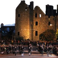 Kirkcudbright Tattoo Pipe Bands and MacLellan's Castle