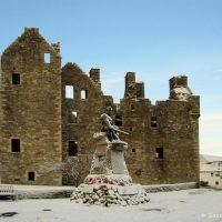 MacLellan's Castle in the snow