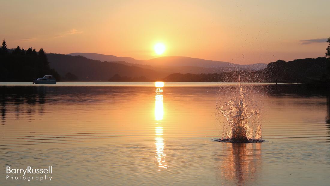 Creating a splash in Loch Ken