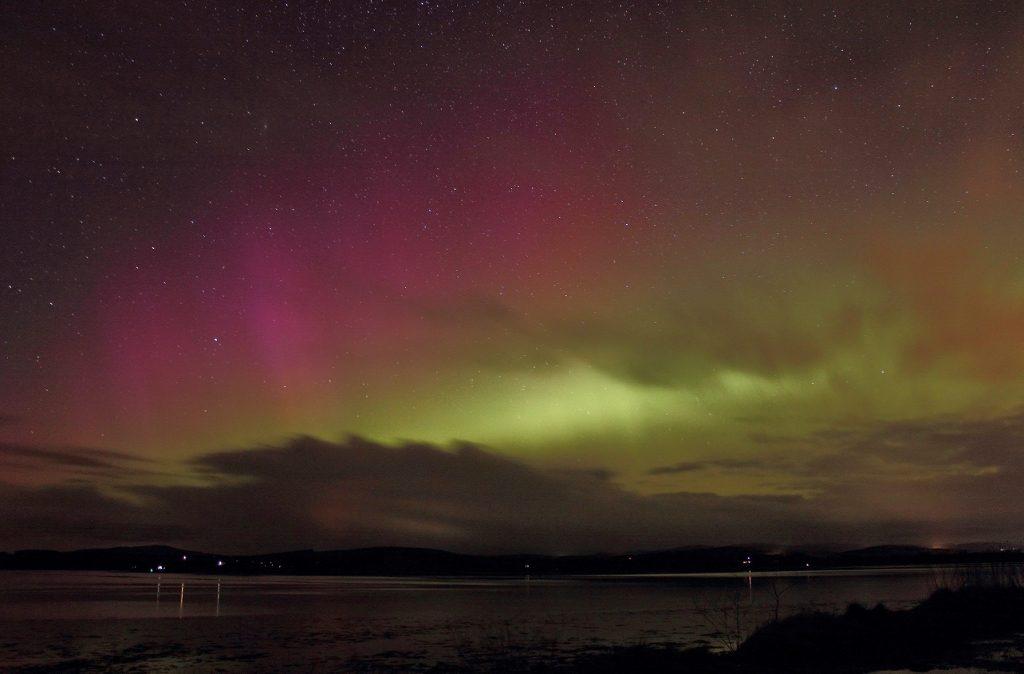 Aurora over Kirkcudbright