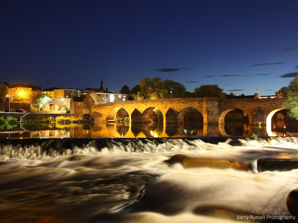 Dumfries at night